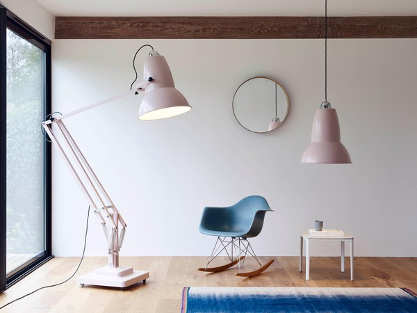Buy anglepoise original 1227 giant pendant light satin finished anglepoise original 1227 giant pendant light ap 31868 satin finished blossom pink grey aloadofball Gallery
