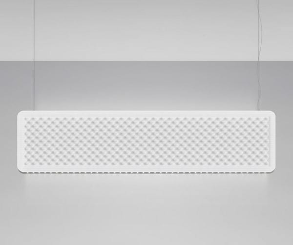 Artemide Architectural Eggboard Baffle Suspension DALI AR AZ22421 Cream