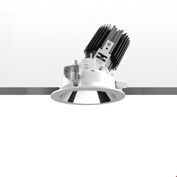 Artemide Architectural Everything 80 Round trim adjustable 46° AR M326265 Grey / Black