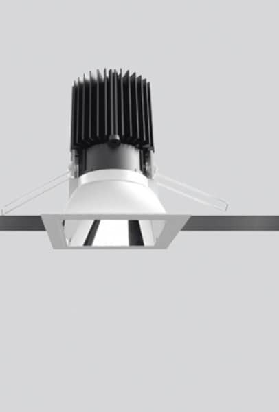 Artemide Architectural Everything 80 Square trim 46° Fixed AR M327460 Grey / Black
