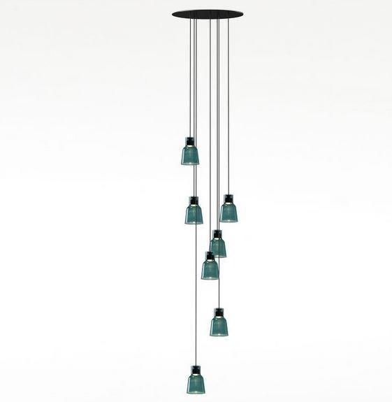 Bover Drop&Drip Drip pendant 7 lights BV 25907215121 Ebony black