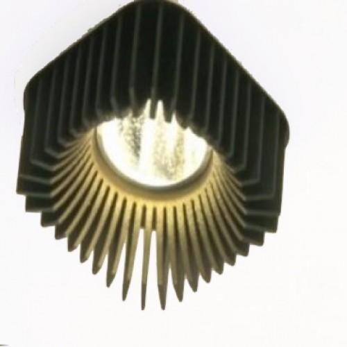 Dark Coolfin crown SQ recessed LED 14,5W 60° 3000K 700mA  DA 83602145306001 Black / Black