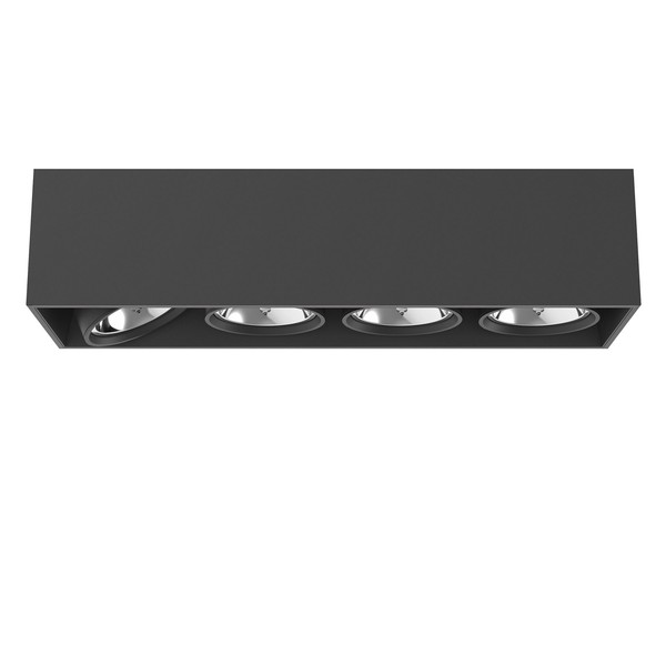 Flos Architectural Compass Box Large 4L Linear Halo AN 03.1063.14 Matted black