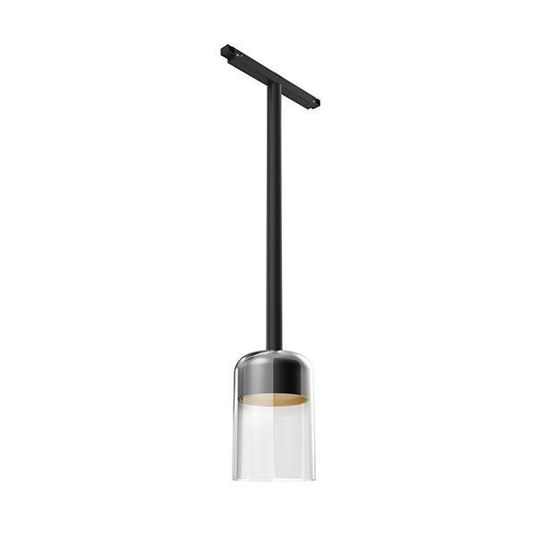 Flos Architectural Infra-Structure Suspension Glass Downlight 110 1-10V AN 03.8130.00.1V Black