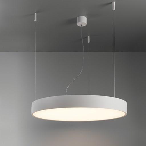 Modular Lighting Flat Moon 950 Suspension Down LED Dali/pushdim GI MO 13305709 White structured