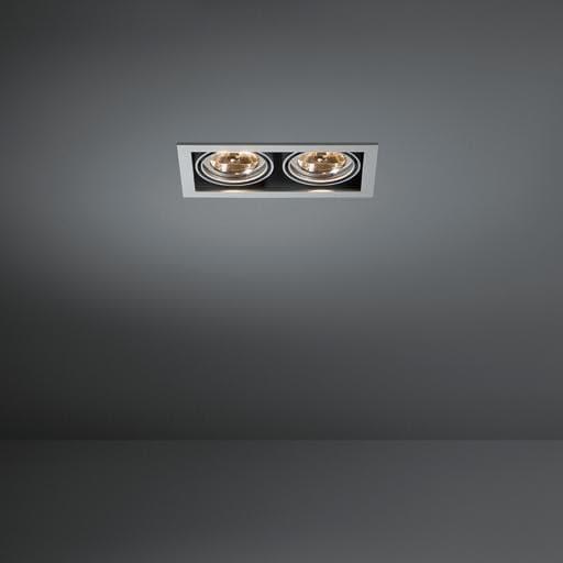 Modular Lighting Mini Multiple 2x AR70 MO 10370229 White structured / Black