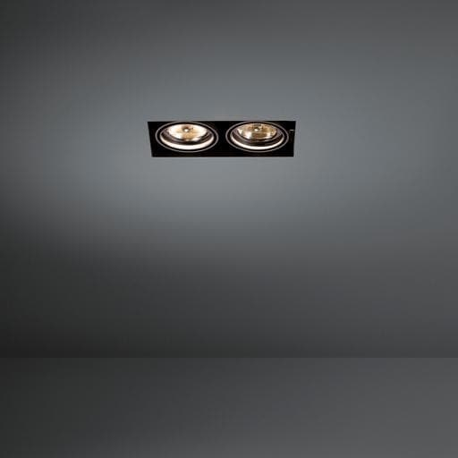 Modular Lighting Mini Multiple Trimless 2x AR70 MO 10380229 White structured / Black