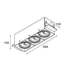 Modular Lighting Mini Multiple Trimless MO 10380302 Black