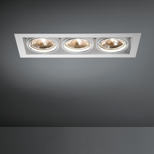 Modular Lighting Multiple 3x AR111 MO 10350329 White structured / Black