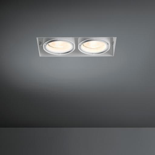 Modular Lighting Multiple Trimless 2x CDM-T MO 10362029 White structured / Black