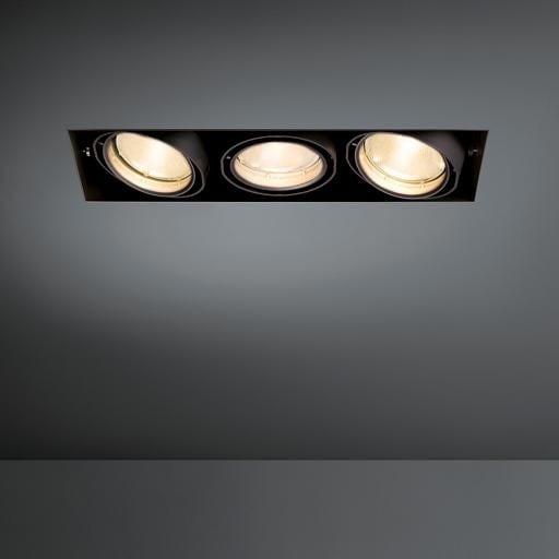 Modular Lighting Multiple Trimless 3x CDM-T MO 10362129 White structured / Black