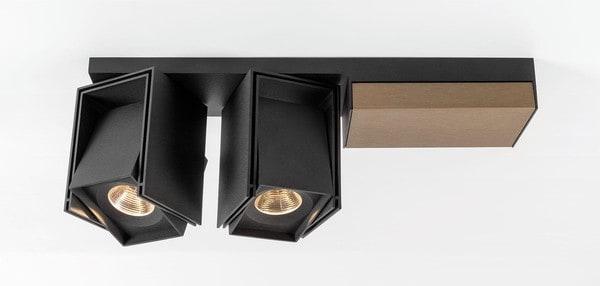 Modular Lighting Rektor 2x LED 1-10V/Pushdim GI MO 14245067 Black structured / Smoked bronze