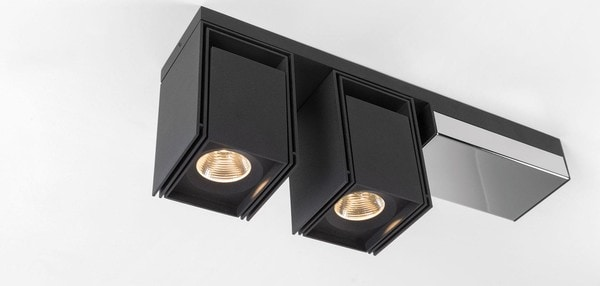 Modular Lighting Rektor 2x LED Warm Dim Tre Dim GI MO 14249164 Black structured / Chrome