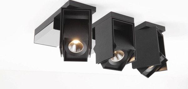 Modular Lighting Rektor LED Warm Dim Tre Dim GI MO 12826362 Black structured / Brushed aluminium