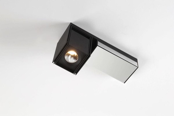 Modular Lighting Rektor LED Warm Dim Tre Dim GI MO 12826364 Black structured / Chrome
