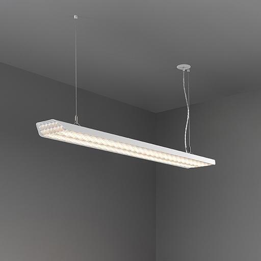 Modular Lighting Vaeder Suspension Power Feed Recessed LED GI MO 14081275 Donkey grey structured / Black