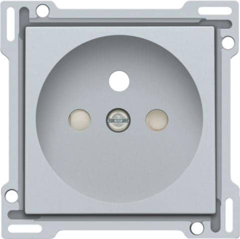 Niko Finishing set Socket Outlet with Pin Earthing 121-66601 Sterling