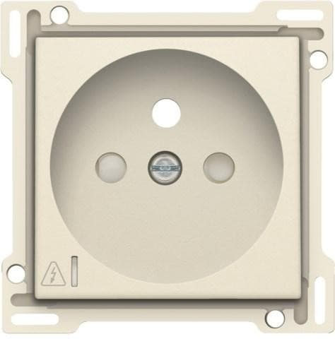 Niko Finishing set Socket Outlet with Small Window 100-66606 Cream