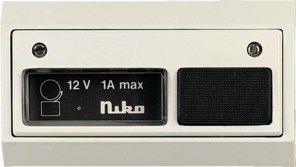 Niko Access Control Bell Push Button 12V 05-540-13 White / White