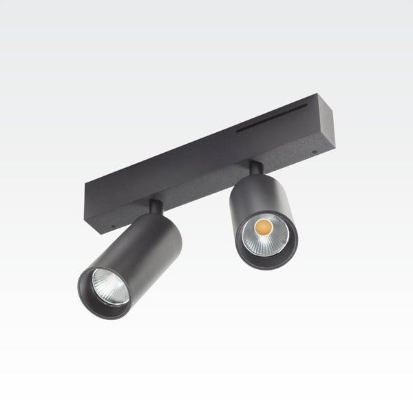 Orbit Easy Tubed Double 2x COB LED OR 98422B2524NW Black / Black