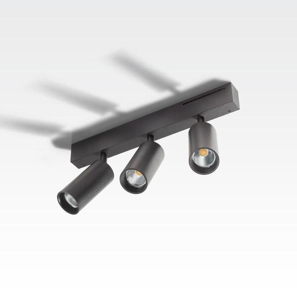 Orbit Easy Tubed Triple 3x COB LED OR 98432B2524NW Black / Black