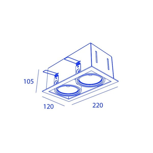 Orbit Piccolo Frame Double 2x COB LED OR 95132C1230DW Black / Black
