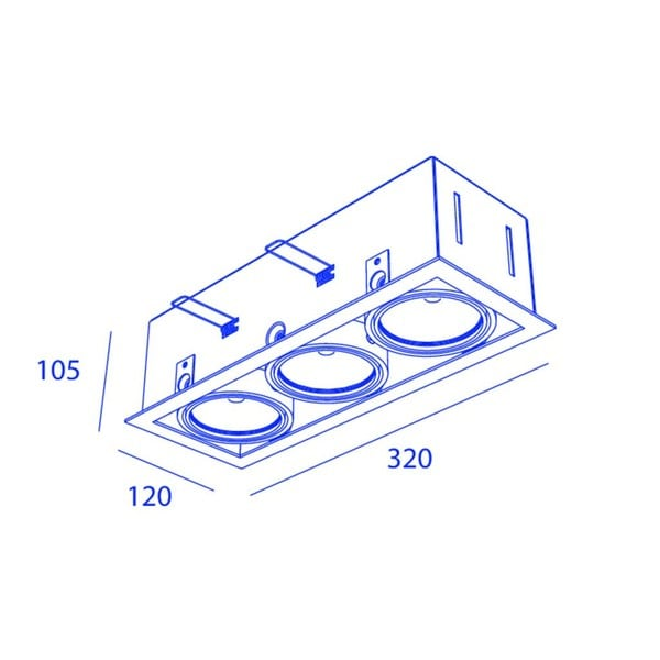 Orbit Piccolo Frame Triple 3x COB LED OR 95161C1230DW White / White