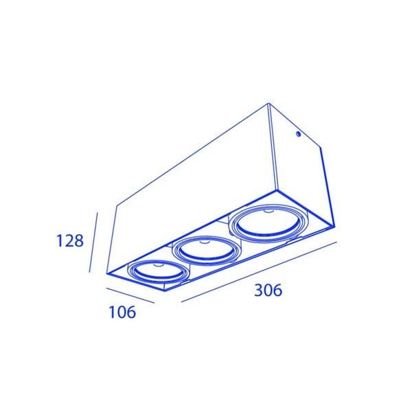 Orbit Piccolo Look Out 3x COB LED OR 965164C1230DW White / Black
