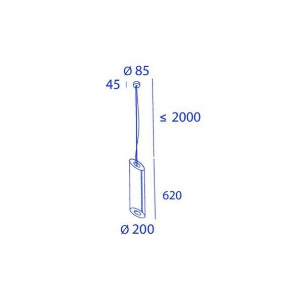 Orbit Slanted 1x COB LED OR 91113C1230DW Orange