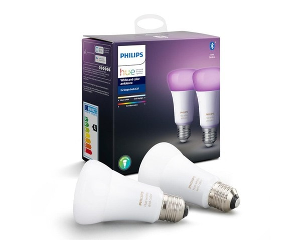 Philips Hue Bulbs Bluetooth 2xE27 White and Colored Light MA 929002216803
