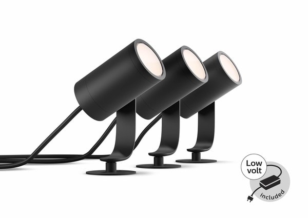 Philips Hue Lily Outdoor Stake lights 3x starter kit MA 1741430P7 Black
