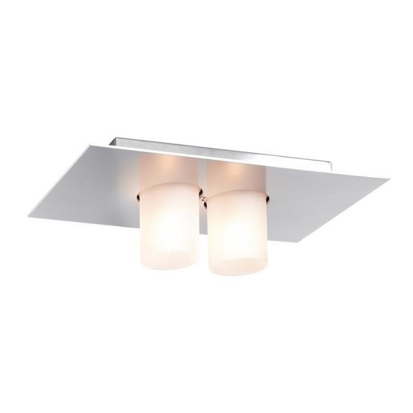 PSM Lighting Titus surface mounted ceiling lamp with glass PS 912.14 Satin-finished aluminium