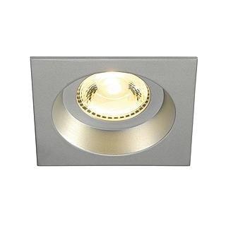 SLV Boost square downlight DM 160674 Silver grey