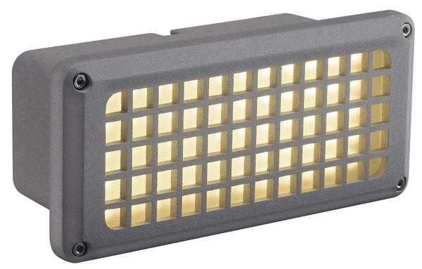 SLV Brick led 230V 8.5W DM 230482 Silver grey