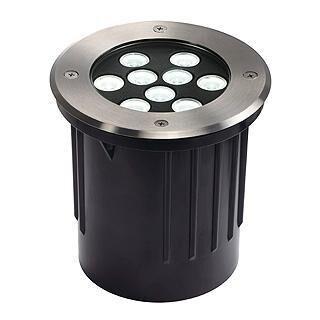 SLV Dasar 9x1W LED DM 230152 Stainless steel